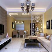 后现代风格室内沙发背景墙