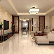 中式风格客厅隔断设计