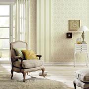 欧式简约风格浅色卧室壁纸设计