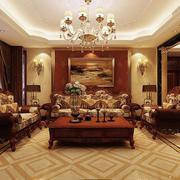欧式客厅经典沙发效果图