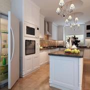 现代简约风格厨房木制地板设计