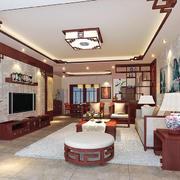 中式客厅原木桌椅装饰