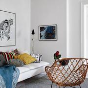 北欧风格公寓沙发背景墙