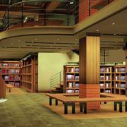 复式楼式书店效果图