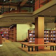 大型复式书店效果图