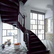 大型简约旋转楼梯装饰