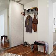 单身公寓简约风格玄关地板装饰