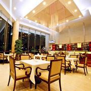 中式风格西餐厅灯饰设计