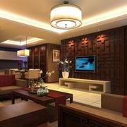 中式客厅圆柱灯饰装饰