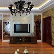 欧式简约风格艺术背景墙设计