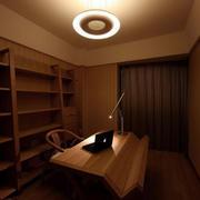 日式原木书房简约灯饰设计