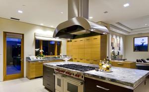 欧式开放独立式厨房设计