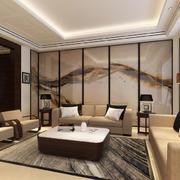 中式客厅古韵屏风装饰