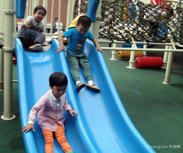 玩耍必备:缤纷彩色幼儿园儿童滑滑梯装修效果图