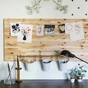 混搭简约书房背景墙装修