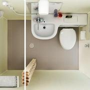 现代简约风格卫生间俯视图