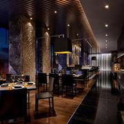 中式西餐厅过道装修