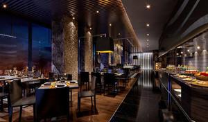 时尚浪漫的西餐厅设计装修效果图