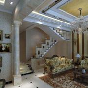 美式别墅照片墙装饰