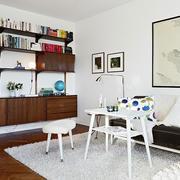 小户型客厅书柜设计