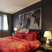 婚房卧室床头背景墙设计