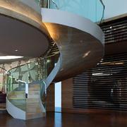 后现代风格楼梯玻璃扶手