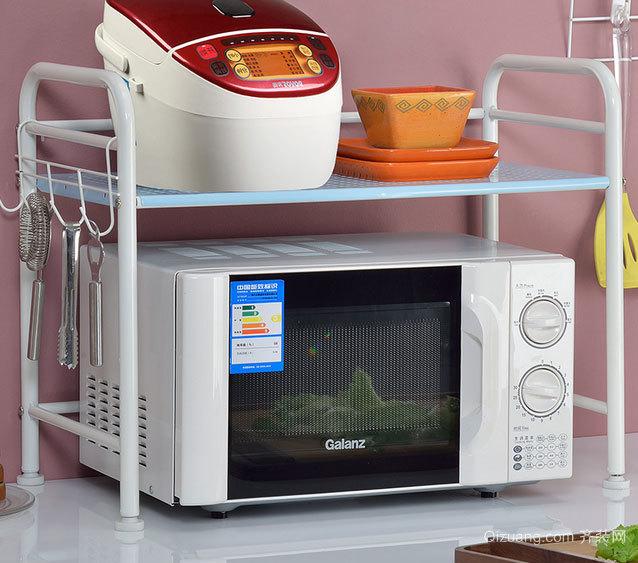 大户型造型别致的家庭厨房置物架装修效果图欣赏大全
