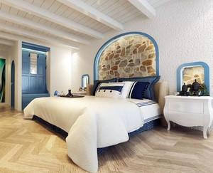 浅蓝色地中海风格房间装修图片