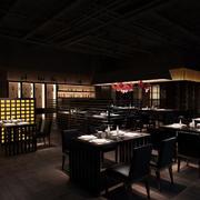 黑色经典西餐厅装饰