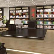 简约密集型书店吊顶设计
