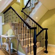 简约复式楼楼梯扶手装饰