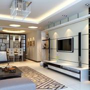 后现代风格室内大理石电视背景墙