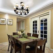 美式简约风格老房餐厅桌椅装饰