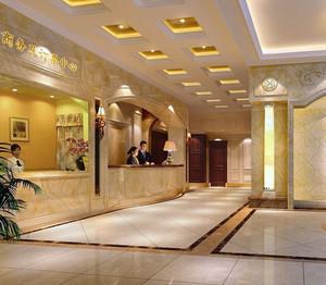 大型酒店吧台过道吊顶装饰