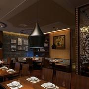 原木设计西餐厅装饰