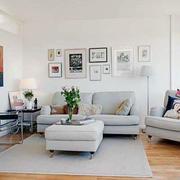 后现代风格客厅简约沙发装修
