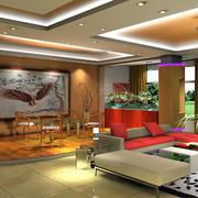 室内中式背景墙设计