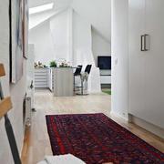 美式阁楼过道地板设计