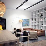 公寓客厅整体橱柜设计