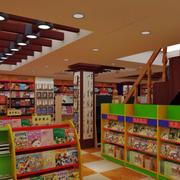 大型书店原木吊顶设计