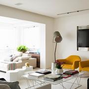 公寓客厅简约电视墙设计