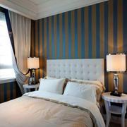 小户型卧室床头背景墙装修