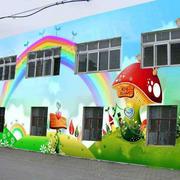 幼儿园外墙背景壁画设计