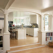 欧式别墅厨房桌椅设计