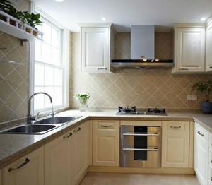 美式U型原木厨房装饰