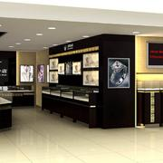 后现代风格深色展示柜装饰