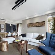 120平米房屋客厅照片墙设计