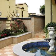 别墅带喷泉花园装饰