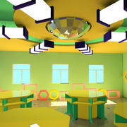 简约风格幼儿园创意背景墙