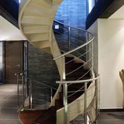 简约风格铁制旋转楼梯